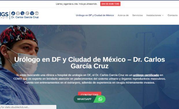 Sitio web - Dr. Carlos Garcia Cruz