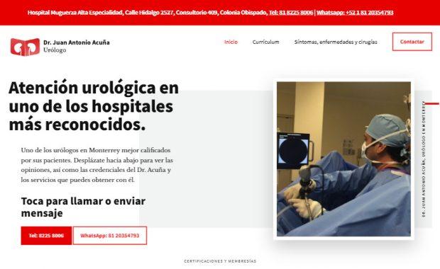 Sitio web - Dr. Juan Antonio Acuna