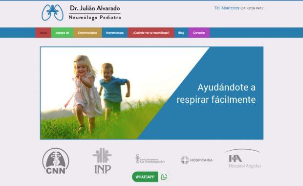 Sitio web - Dr. Julián Alvarado