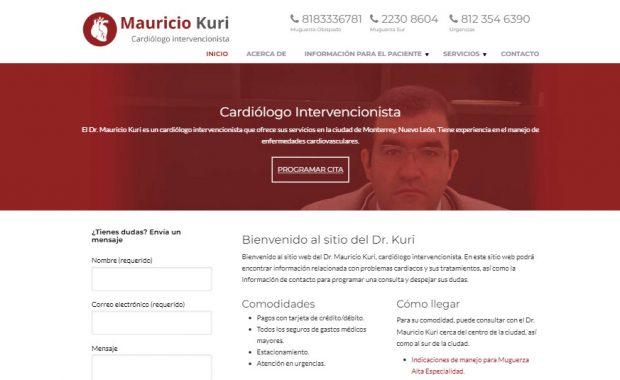 Sitio web - Dr. Mauricio Kuri