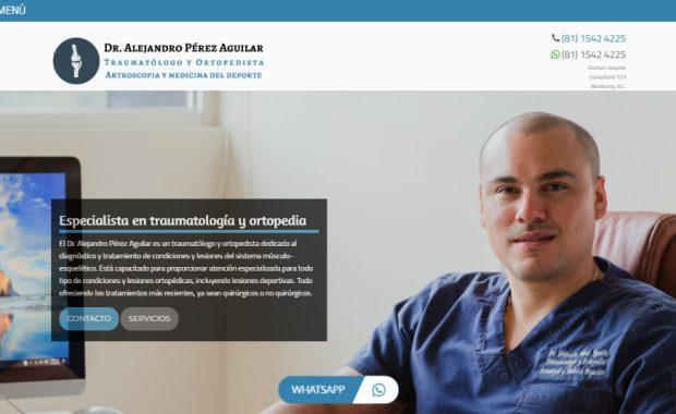 Sitio web - Dr. Pérez Aguilar