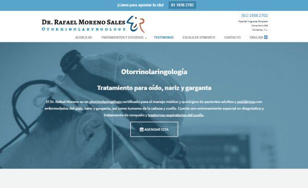 Sitio web - Dr. Rafael Moreno Sales