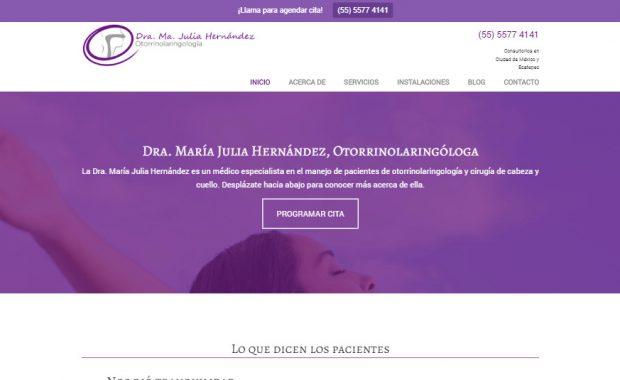 Sitio web - Dra. Julia Hernández
