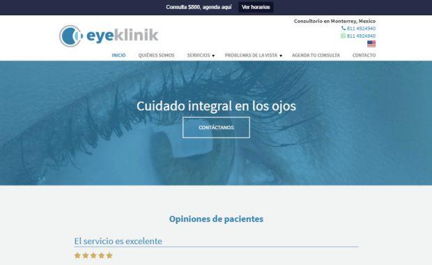 Sitio web - Eyeklinik