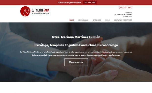 Sitio web - Mariana Martinez