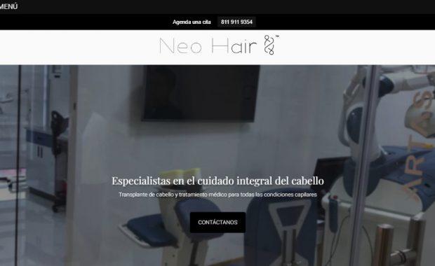 Sitio web - Neohair