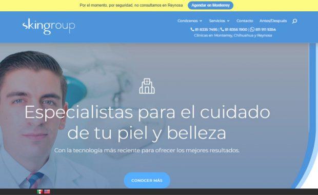 Sitio web - Skingroup