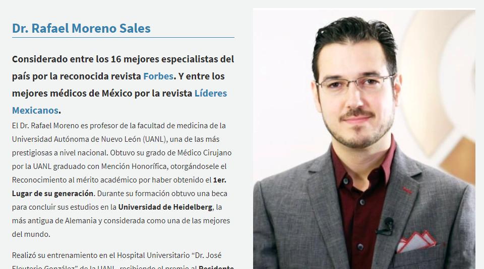 Un buen marketing médico muestra la fotografía del médico en sitio web
