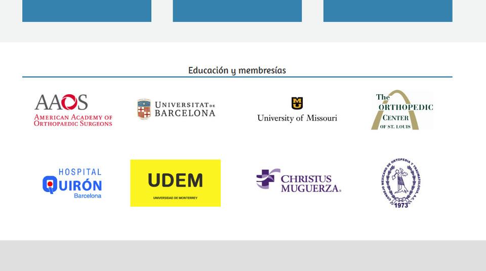 Un buen marketing para médicos muestra logotipos para demostrar autoridad en sitio web
