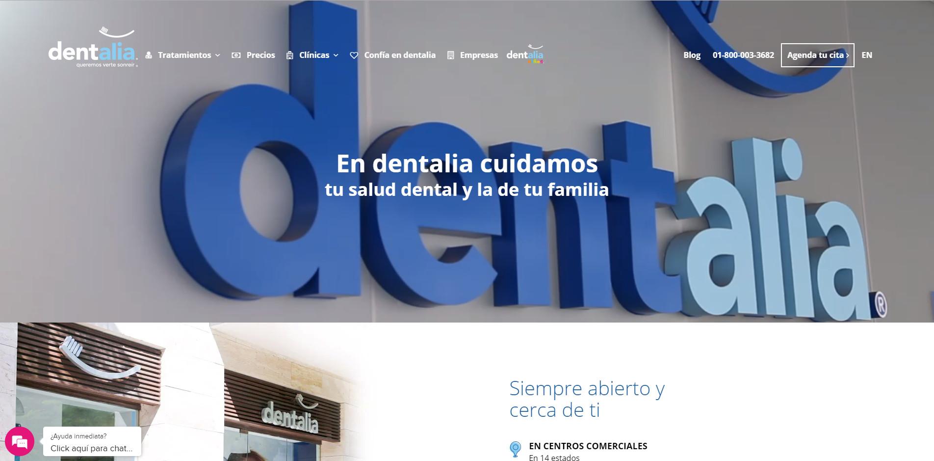 Sitio web de un marketing odontólogico