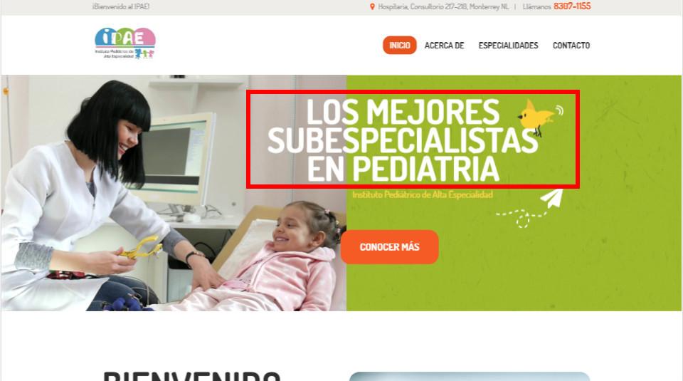 El marketing para médicos necesita de un título claro en tu sitio web