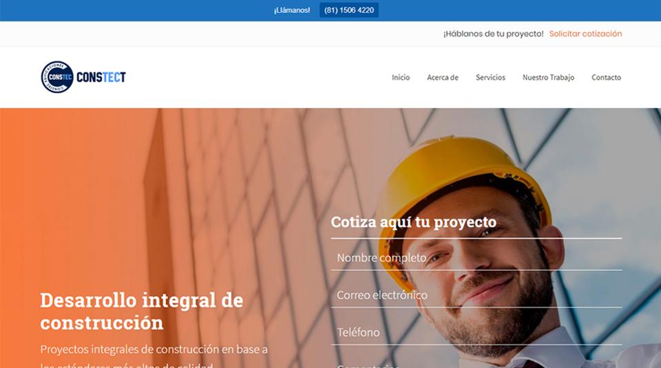 Sitio Web - Constect Edificaciones