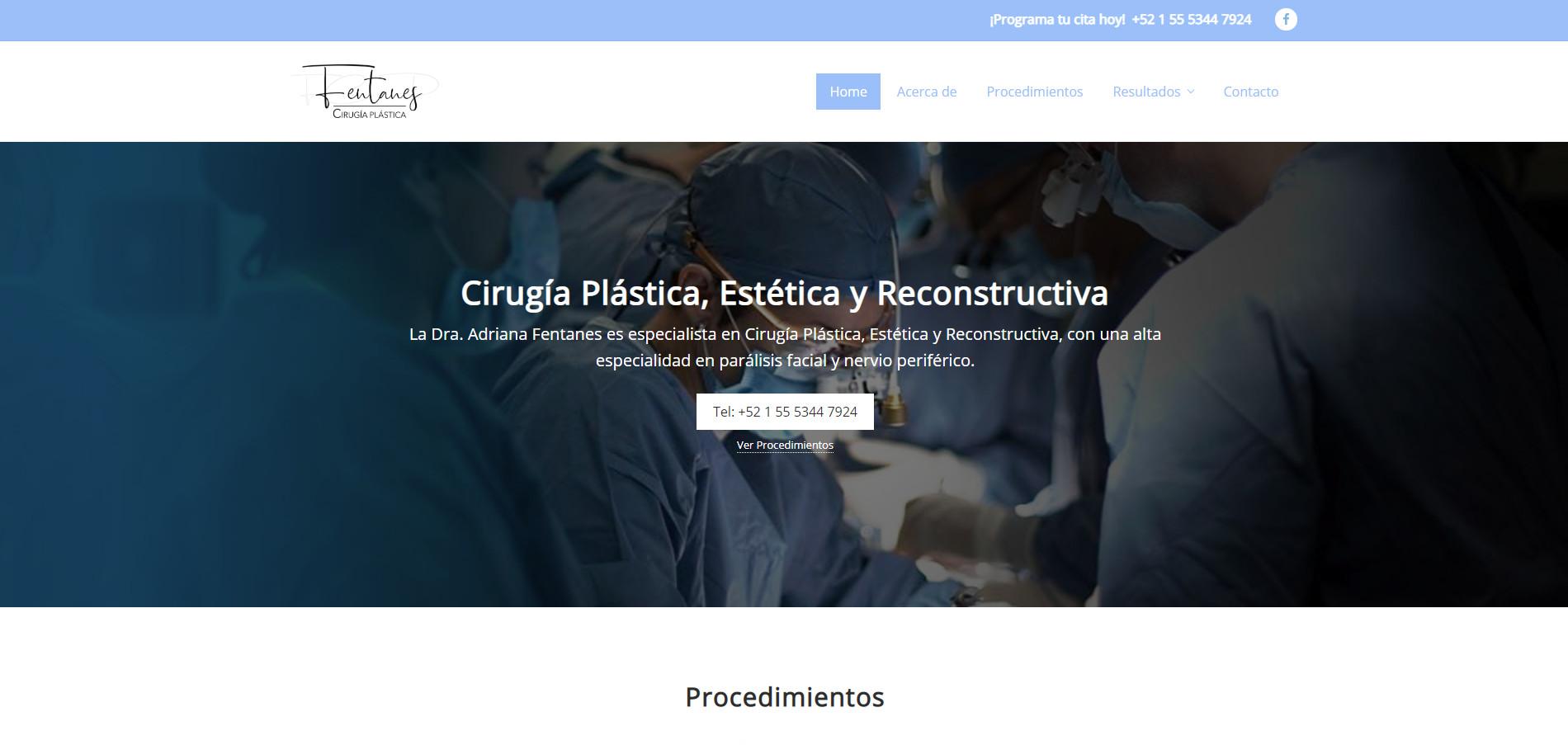 Dra. Adriana Fentanes - Cirugía Plástica