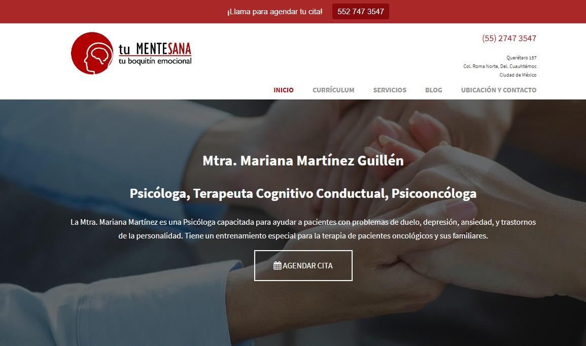 Sitio web de un psicólogo - Marketing Para Psicólogos