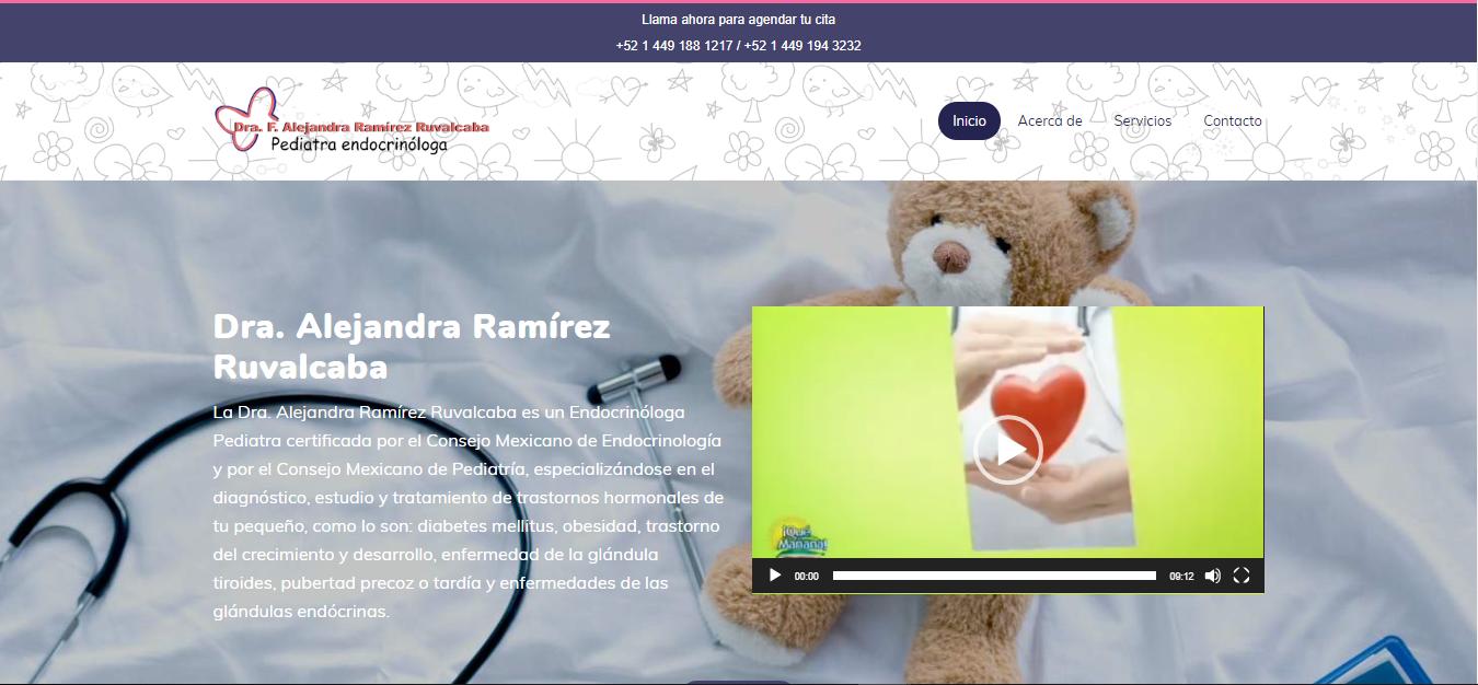 Dra. Alejandra Ramírez Ruvalcaba - Endocrinóloga Pediatra