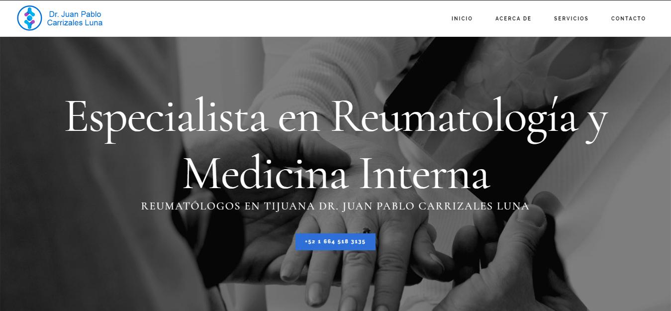 Dr. Juan Pablo Carrizales Luna - Reumatólogo y Médico Internista