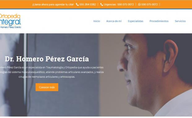 Ortopedistas en CDMX - Dr. Homero Pérez García