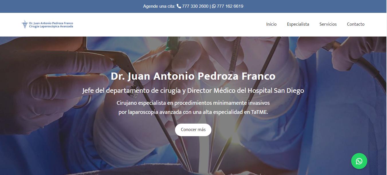 Cirujano General en Cuernavaca - Dr. Juan Antonio Pedroza Franco
