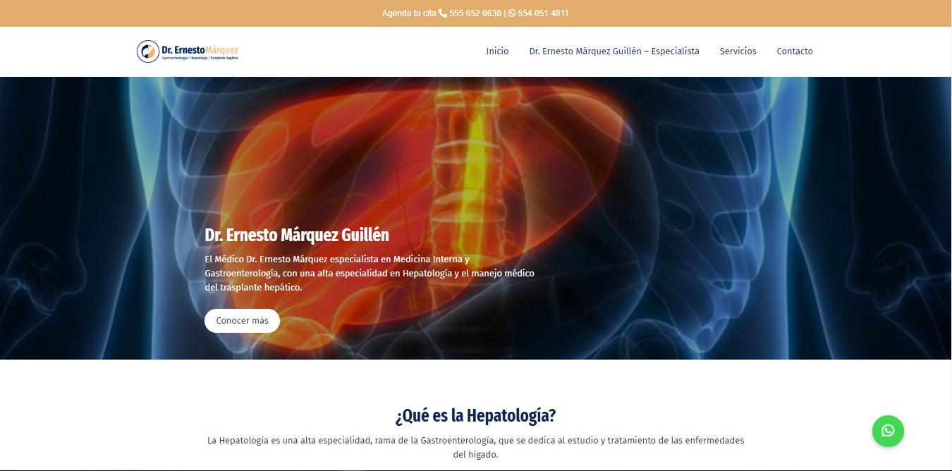 Hepátologo en CDMX - Dr. Ernesto Márquez Guillén