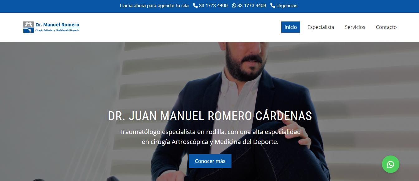 Traumatólogo en Guadalajara - Dr. Manuel Romero Cárdenas