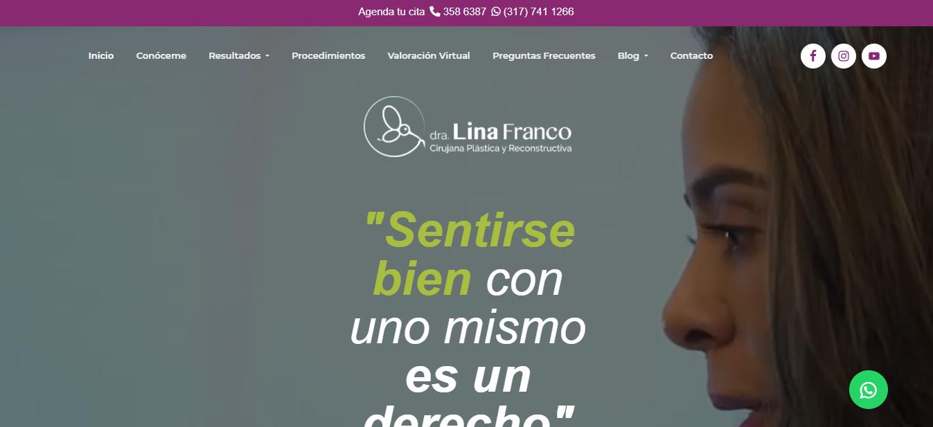 Cirujano plástico en Bogotá - Dra. Lina Franco