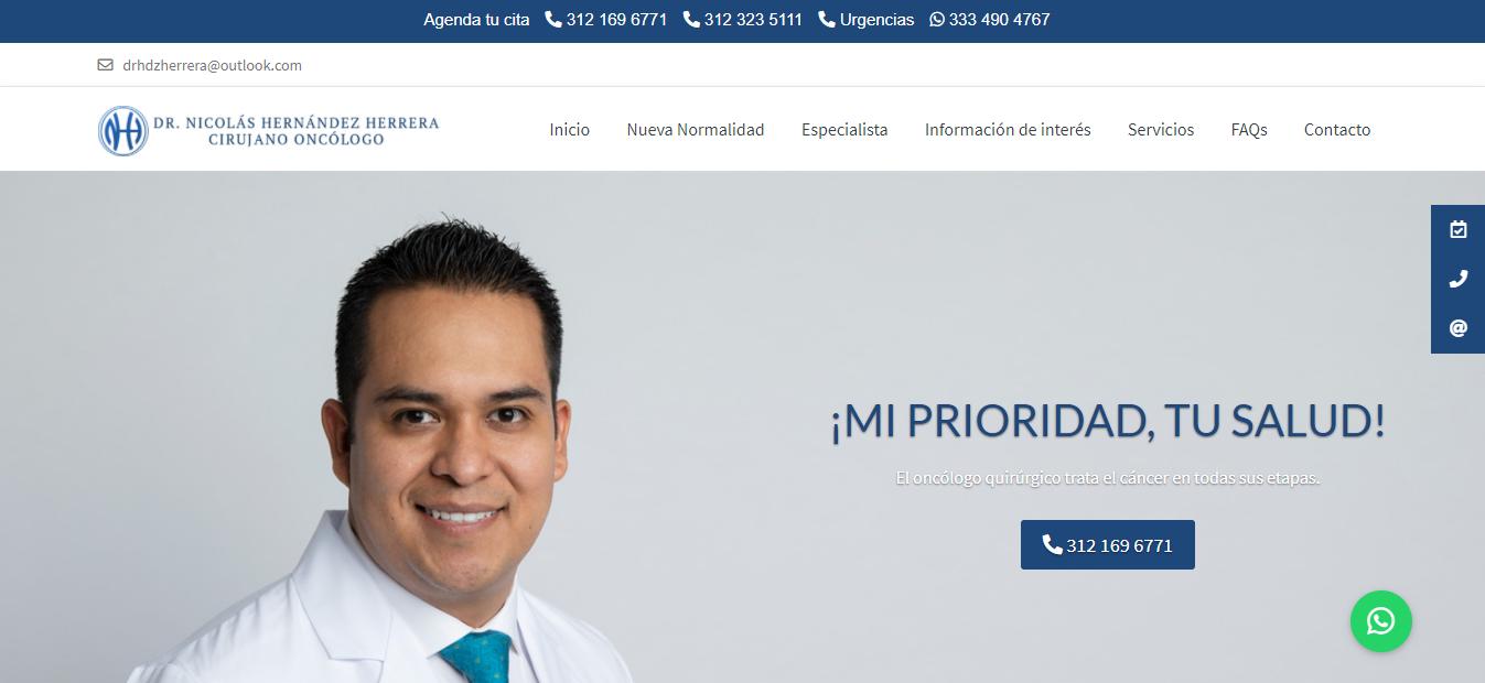 Oncólogo en Colima - Dr. Nicolás Hernández Herrera