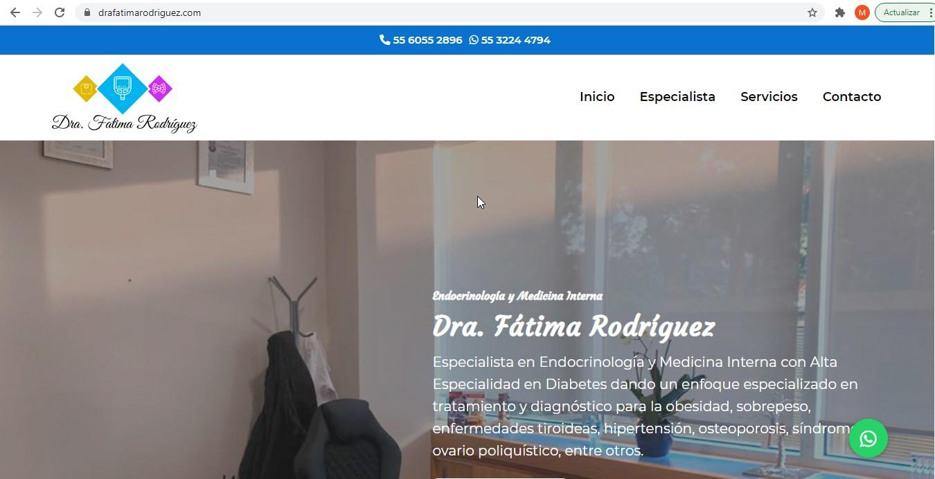 Especialista en diabetes en CDMX - Dra. Fátima Rodríguez