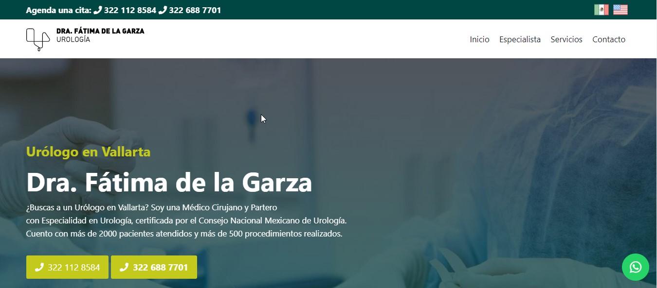 Dra. Fátima De la Garza Chávez - Urólogo en Vallarta
