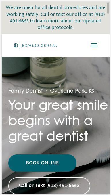 Sitio web BowlesDental