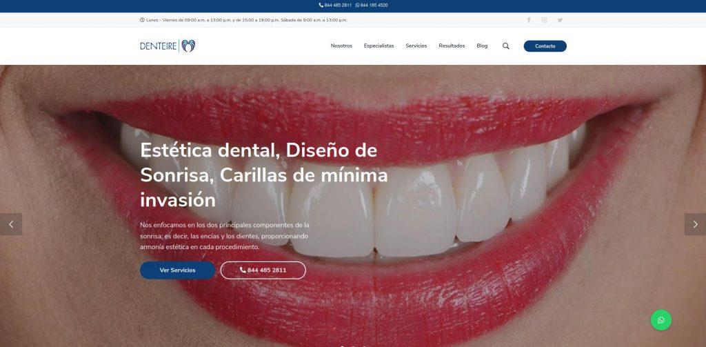 Sitio web Denteire