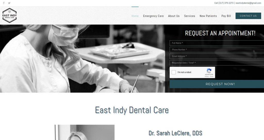 Sitio web de EasyIndy Dental Care